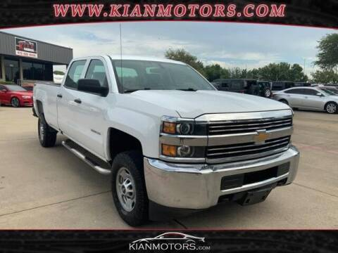 2016 Chevrolet Silverado 2500HD for sale at KIAN MOTORS INC in Plano TX
