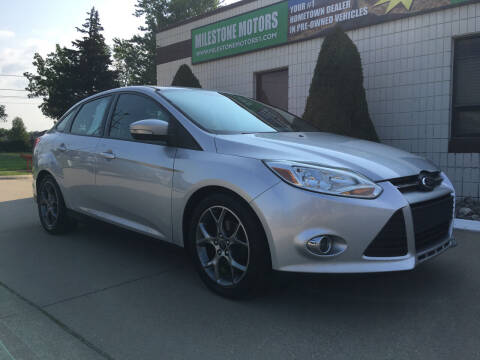 2014 Ford Focus for sale at MILESTONE MOTORS in Chesterfield MI