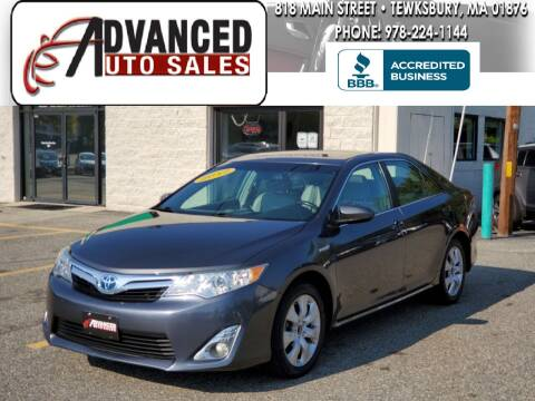 2012 Toyota Camry Hybrid for sale at Advanced Auto Sales in Tewksbury MA