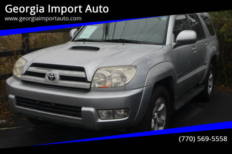 2003 Toyota 4Runner for sale at Georgia Import Auto in Alpharetta GA