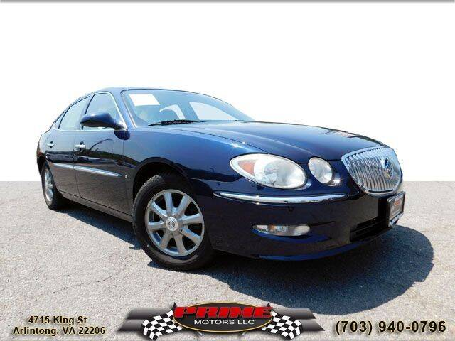 2008 Buick LaCrosse for sale at PRIME MOTORS LLC in Arlington VA