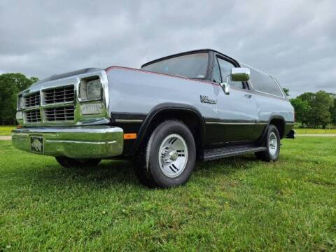 1991 Dodge Ramcharger for sale at Classic Car Deals in Cadillac MI