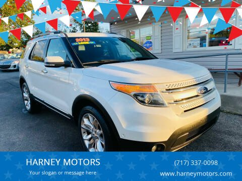 2013 Ford Explorer for sale at HARNEY MOTORS in Gettysburg PA