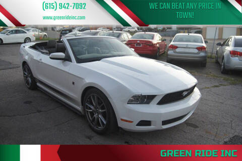 2014 Ford Mustang for sale at Green Ride Inc in Nashville TN