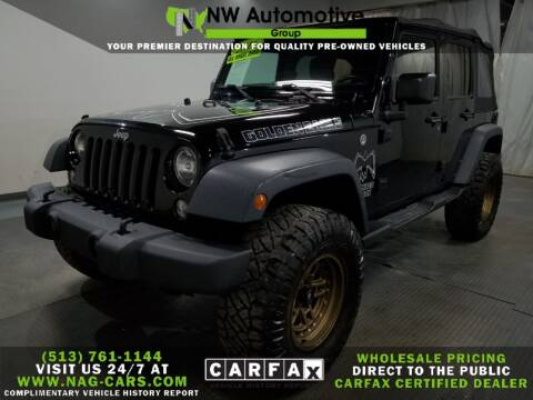 2016 Jeep Wrangler Unlimited for sale at NW Automotive Group in Cincinnati OH