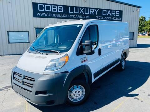 2017 RAM ProMaster Cargo for sale at Cobb Luxury Cars in Marietta GA