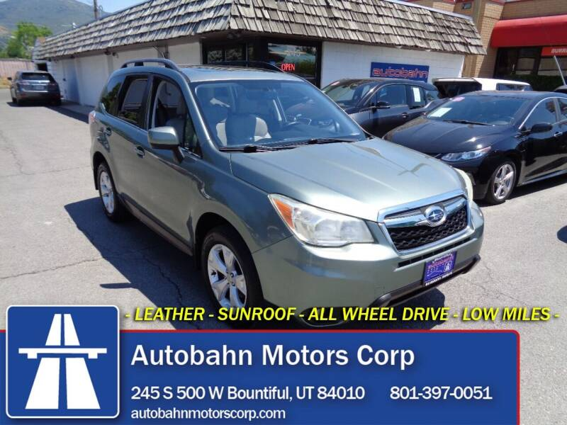 2014 Subaru Forester for sale at Autobahn Motors Corp in Bountiful UT