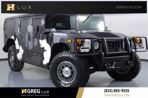 2006 HUMMER H1 for sale at HGREG LUX EXCLUSIVE MOTORCARS in Pompano Beach FL