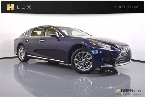 2018 Lexus LS 500 for sale at HGREG LUX EXCLUSIVE MOTORCARS in Pompano Beach FL