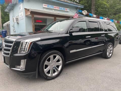 2015 Cadillac Escalade ESV for sale at Elite Auto Sales Inc in Front Royal VA