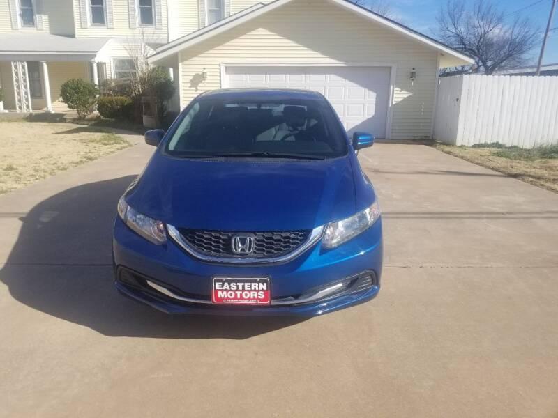 2014 Honda Civic for sale at Eastern Motors in Altus OK