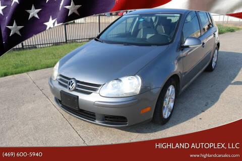 2008 Volkswagen Rabbit for sale at Highland Autoplex, LLC in Dallas TX