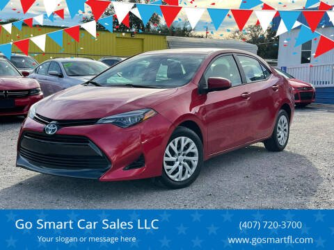 2017 Toyota Corolla for sale at Go Smart Car Sales LLC in Winter Garden FL