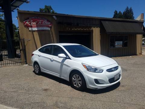 2017 Hyundai Accent for sale at Rent To Own Auto Showroom LLC - Finance Inventory in Modesto CA