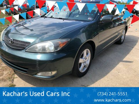 2002 Toyota Camry for sale at Kachar's Used Cars Inc in Monroe MI