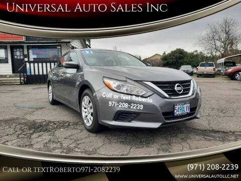 2017 Nissan Altima for sale at Universal Auto Sales Inc in Salem OR