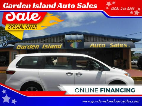 2017 Toyota Sienna for sale at Garden Island Auto Sales in Lihue HI