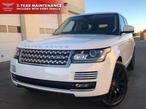 2014 Land Rover Range Rover for sale at European Motors Inc in Plano TX