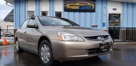 2003 Honda Accord for sale at Freeland LLC in Waukesha WI