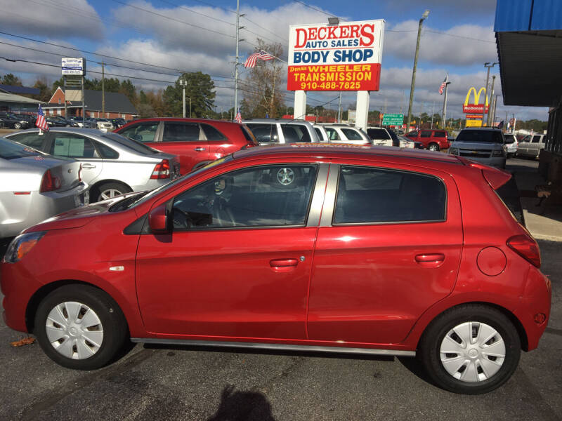 2014 Mitsubishi Mirage for sale at Deckers Auto Sales Inc in Fayetteville NC