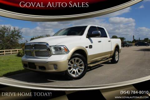 2013 RAM Ram Pickup 1500 for sale at Goval Auto Sales in Pompano Beach FL