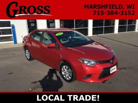 2015 Toyota Corolla for sale at Gross Motors of Marshfield in Marshfield WI