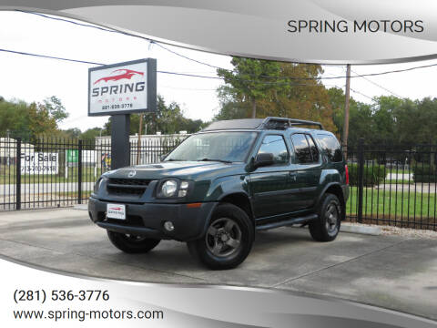 2002 Nissan Xterra for sale at Spring Motors in Spring TX