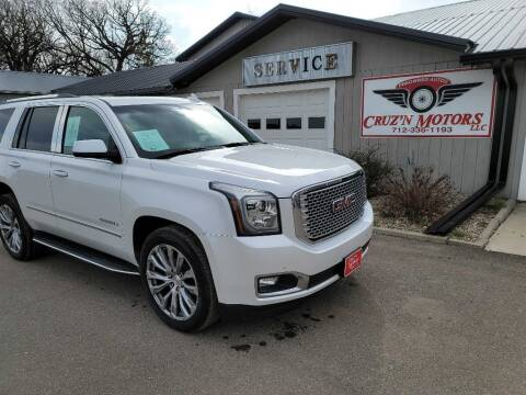 2016 GMC Yukon for sale at CRUZ'N MOTORS in Spirit Lake IA