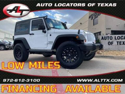 2012 Jeep Wrangler for sale at AUTO LOCATORS OF TEXAS in Plano TX