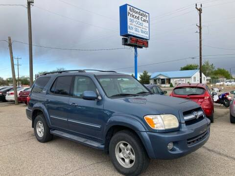 2006 Toyota Sequoia for sale at AFFORDABLY PRICED CARS LLC in Mountain Home ID