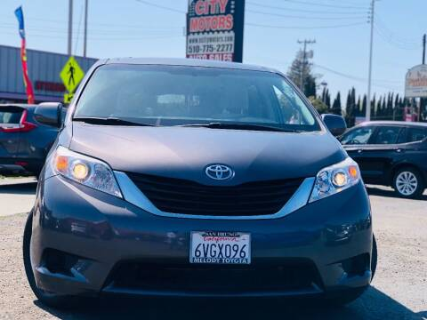 2012 Toyota Sienna for sale at City Motors in Hayward CA