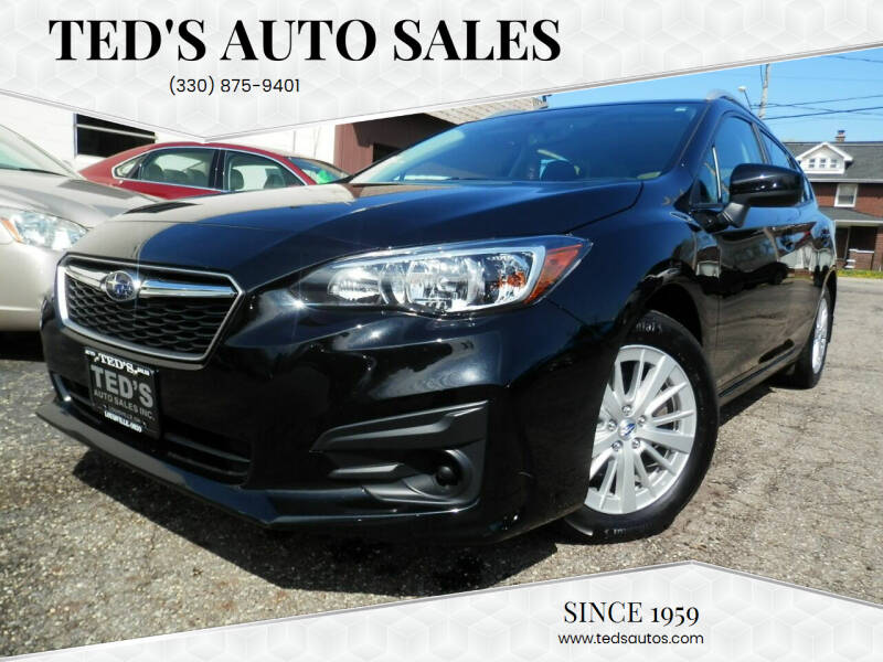 2018 Subaru Impreza for sale at Ted's Auto Sales in Louisville OH