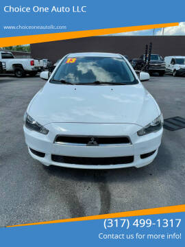 2013 Mitsubishi Lancer for sale at Choice One Auto LLC in Beech Grove IN