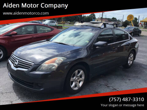 2007 Nissan Altima for sale at Aiden Motor Company in Portsmouth VA