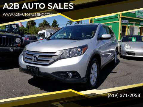 2012 Honda CR-V for sale at A2B AUTO SALES in Chula Vista CA