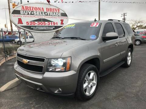 2007 Chevrolet Tahoe for sale at Arizona Drive LLC in Tucson AZ