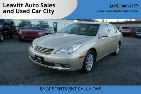 2004 Lexus ES 330 for sale at Leavitt Auto Sales and Used Car City in Everett WA