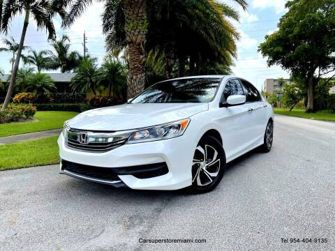 2016 Honda Accord for sale at HD CARS INC in Hollywood FL