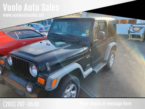 2006 Jeep Wrangler for sale at Vuolo Auto Sales in North Haven CT