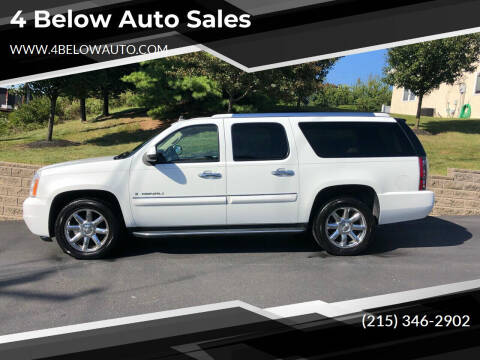 2008 GMC Yukon XL for sale at 4 Below Auto Sales in Willow Grove PA