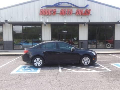 2014 Chevrolet Cruze for sale at DOUG'S AUTO SALES INC in Pleasant View TN