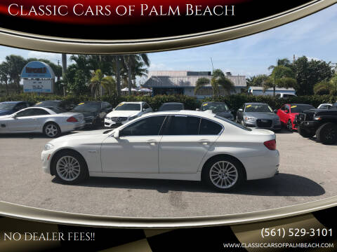 2013 BMW 5 Series for sale at Classic Cars of Palm Beach in Jupiter FL