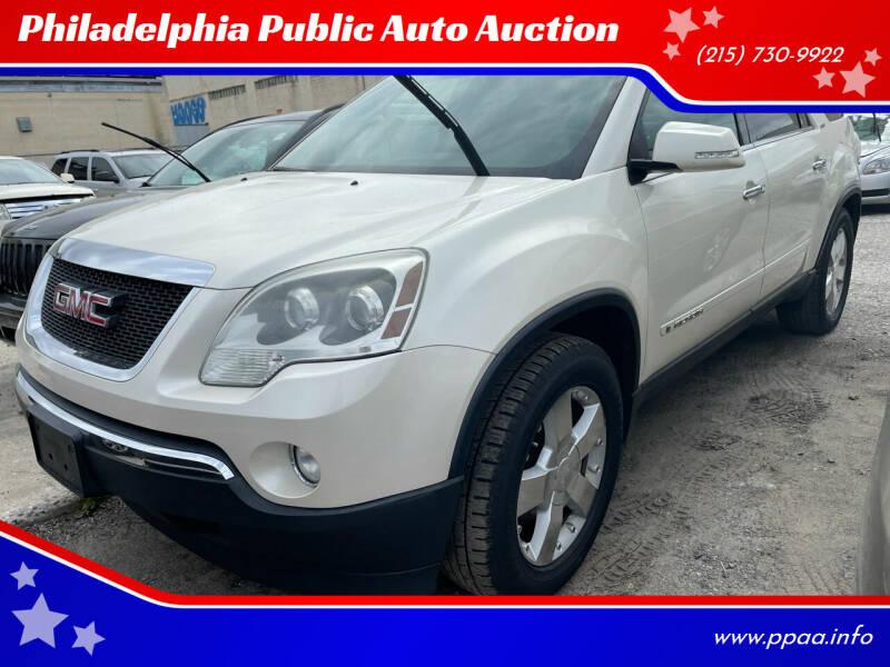 2008 GMC Acadia for sale at Philadelphia Public Auto Auction in Philadelphia PA