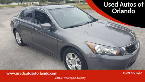 2008 Honda Accord for sale at Used Autos of Orlando in Orlando FL