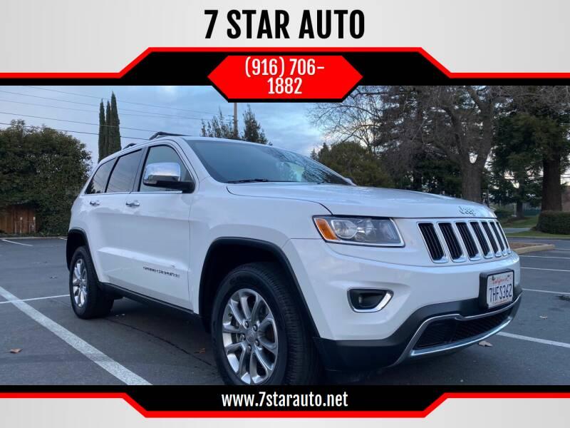 2015 Jeep Grand Cherokee for sale at 7 STAR AUTO in Sacramento CA