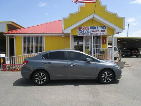 2013 Honda Civic for sale at Mission Auto & Truck Sales, Inc. in Mission TX