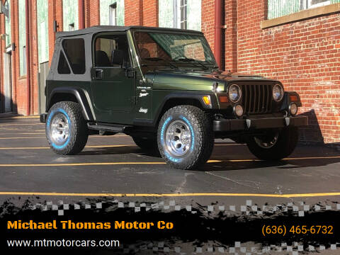1998 Jeep Wrangler for sale at Michael Thomas Motor Co in Saint Charles MO