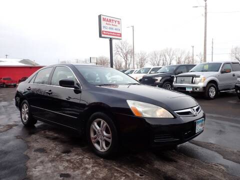 2007 Honda Accord for sale at Marty's Auto Sales in Savage MN