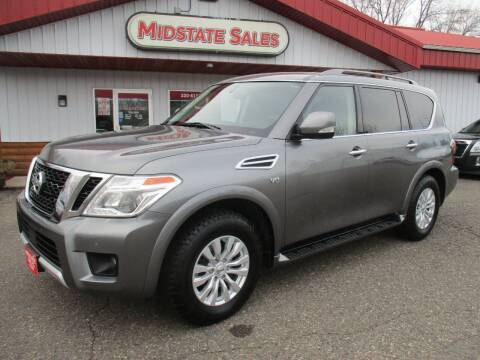 2018 Nissan Armada for sale at Midstate Sales in Foley MN
