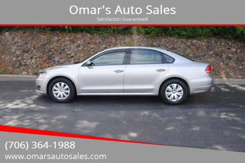 2013 Volkswagen Passat for sale at Omar's Auto Sales in Martinez GA